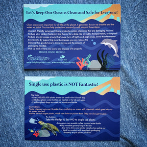 ocean pollution informational postcard both sides