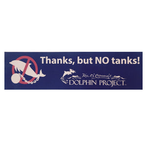 thanks but no tanks bumper sticker