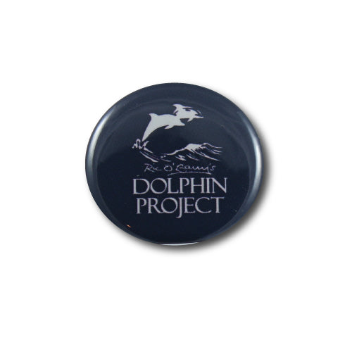 dolphin project black and white button