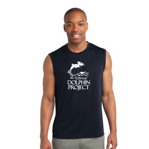 Dolphin project graphic athletic sleeveless shirt