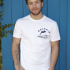 classic 1973 dolphin project logo white shirt