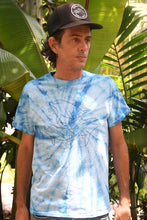 Load image into Gallery viewer, Unisex Dolphin Trio Blue Tie Dye Tee