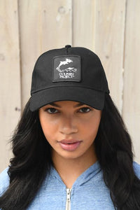 Dolphin Project Black Foam Trucker Hat with Round Black Logo Patch