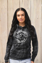 Load image into Gallery viewer, Unisex Dolphin Project EST 1970 Black Tie Dye Pullover Hoodie