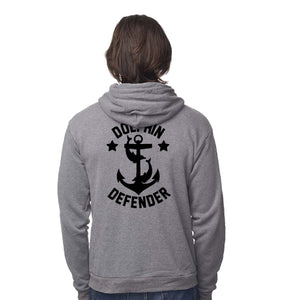 dolphin defender anchor nautical graphic