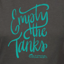 Load image into Gallery viewer, empty the tanks teal tee graphic
