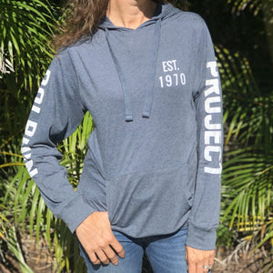 dolphin project anniversary blue pullover hoodie