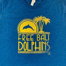 Load image into Gallery viewer, free bali dolphins graphic tee detail