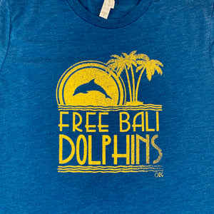 free bali dolphins graphic tee detail