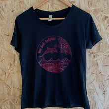 Load image into Gallery viewer, Ladies Free Bali Dolphins Black Tee