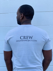 Men's Dolphin Project Crew Platinum Tee