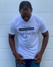 Load image into Gallery viewer, Not Captivated By Captivity White Unisex Tee