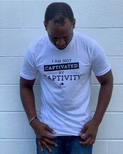 Not Captivated By Captivity White Unisex Tee