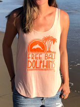 Load image into Gallery viewer, free bali dolphins tank ladies dolphin sanctuary dolphin project