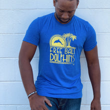 Load image into Gallery viewer, free bali dolphins blue summer tee