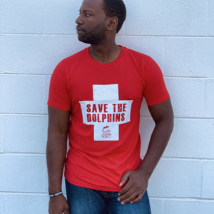 Save the Dolphins Lifeguard Tee Mens