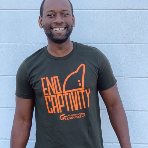 End Dolphin Captivity Unisex tee
