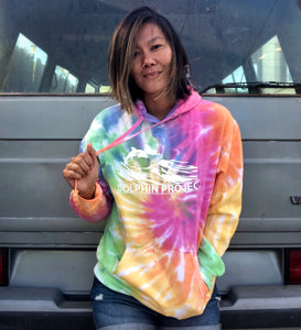 Unisex Dolphin Project Original Logo Tie Dye Pullover Hoodie
