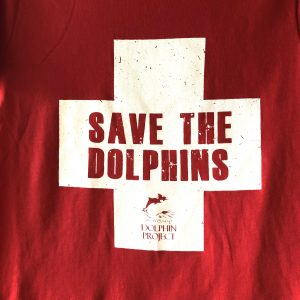 save the dolphins graphic tee