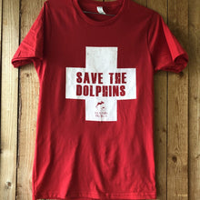 Load image into Gallery viewer, save the dolphins lifeguard t-shirt