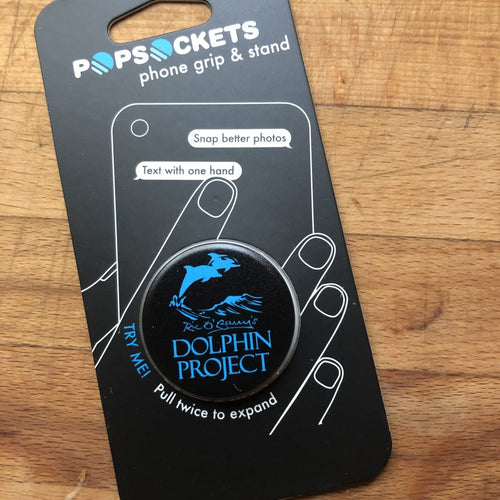 black and teal dolphin popsocket