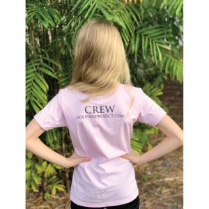 girls pink dolphin project crew t-shirt