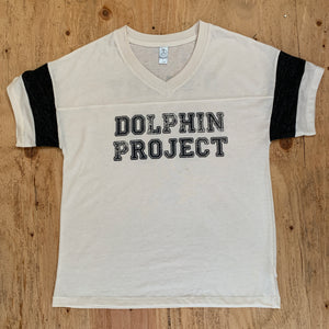Vintage style white dolphin project tee