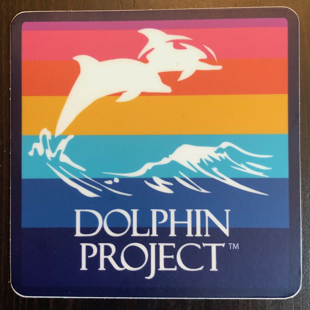 dolphin project rainbow sticker