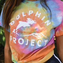 Load image into Gallery viewer, unisex rainbow tie dye dolphin shirt