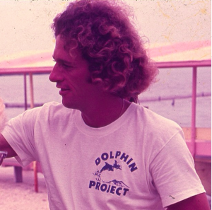 dolphin project founder vintage white dolphin tee