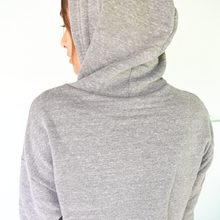Load image into Gallery viewer, grey dolphin crop hoodie back