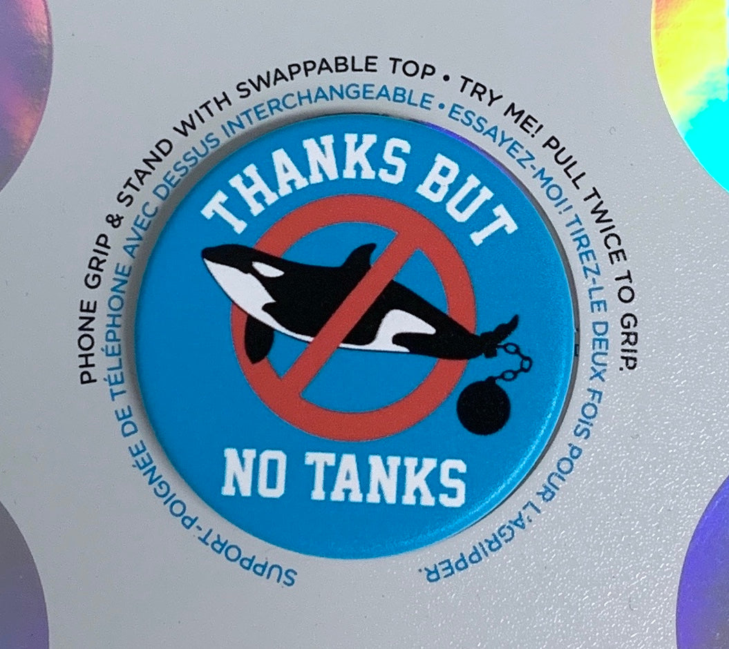 Thanks But No Tanks Orca Pop Socket