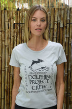Load image into Gallery viewer, dolphin project crew tee white