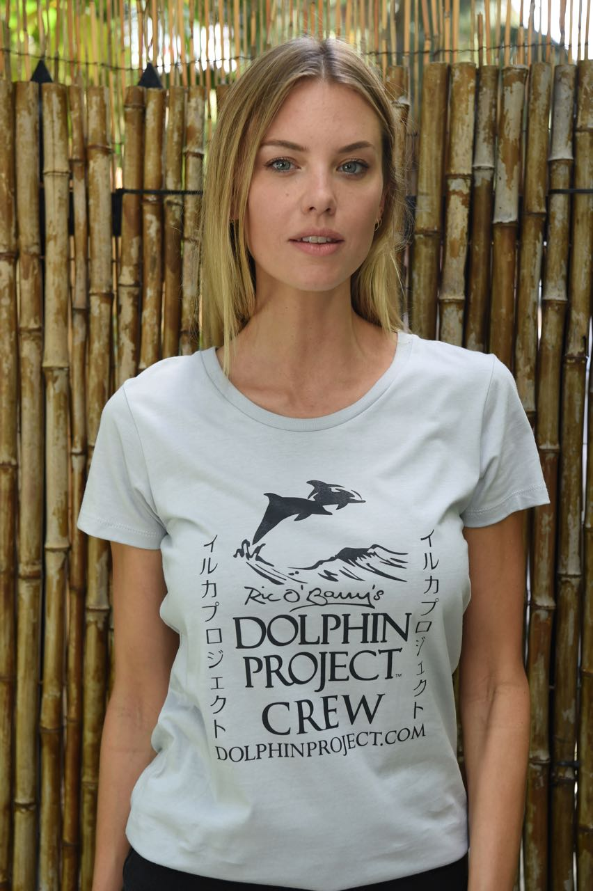 dolphin project crew tee white