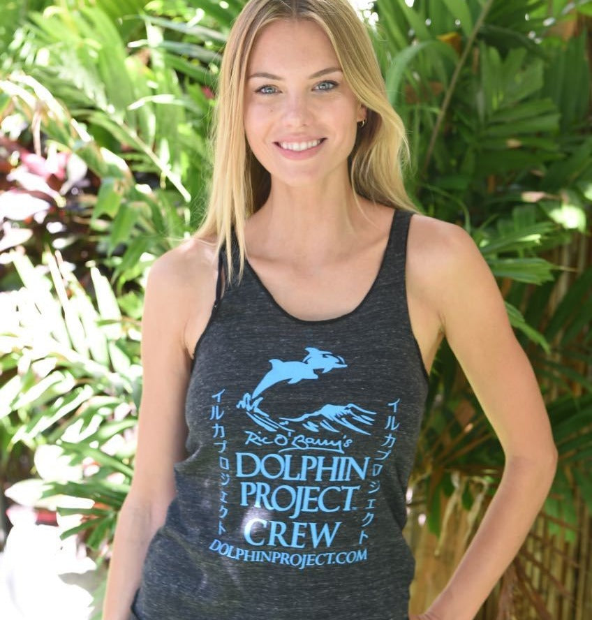 Dolphin project crew tank top ladies