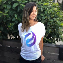 Load image into Gallery viewer, dolphin yin yang graphic tee