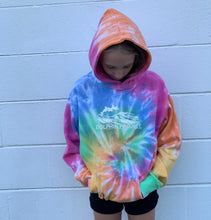 Load image into Gallery viewer, youth dolphin rainbow swirl hoodie
