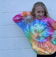 Load image into Gallery viewer, dolphins tie dye rainbow hoodie for kids