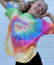 Load image into Gallery viewer, Dolphin Project Classic Logo Tie Dye Youth Tee