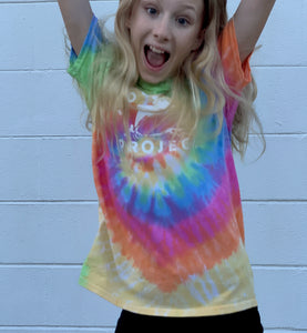 Dolphin Project Original Logo Tie Dye Youth Tee