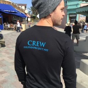 Dolphin project crew graphic tee back