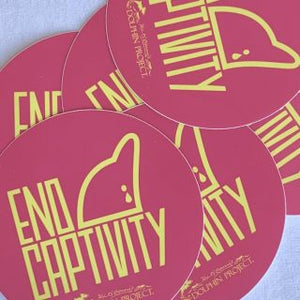 end dolphin captivity pink decal