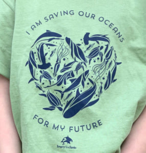 I am saving our oceans for my future heart graphic