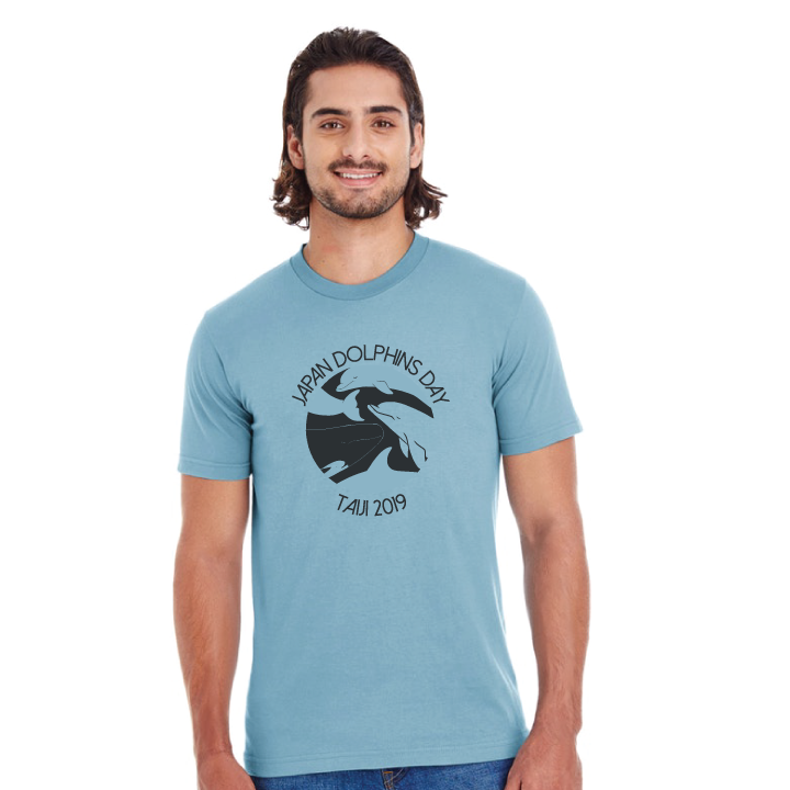 Japan dolphins day tee front