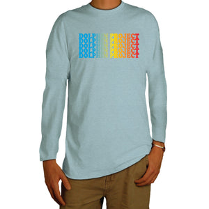 dolphin project rainbow graphic longsleeve tee