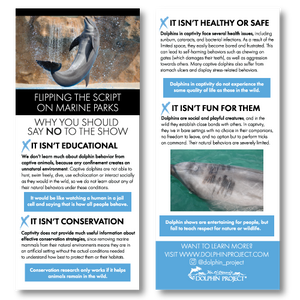 flipping the script on marine parks dolphin captivity rack card preview