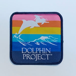 Dolphin Project Rainbow Logo Square Patch