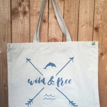 Load image into Gallery viewer, Wild & Free Tote Bag