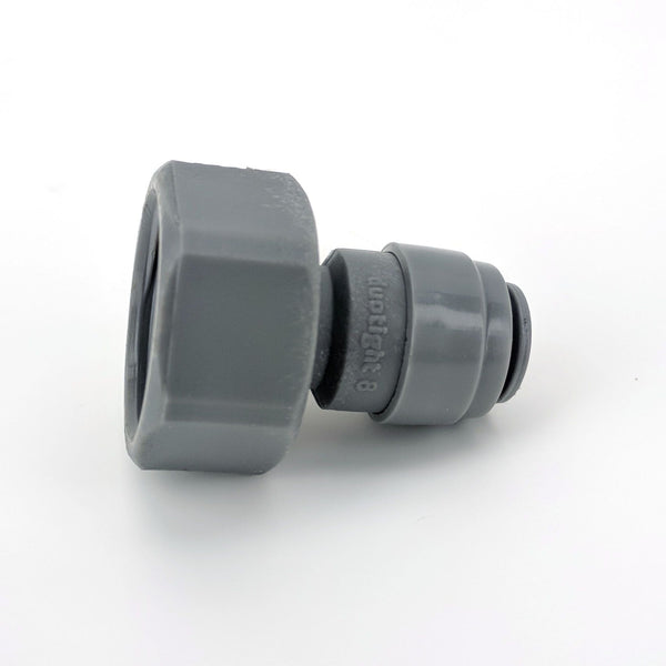 "Duotight - 8mm (5/16"") Push In x 5/8"" Thread (fits Keg Couplers and Faucet Shanks)"