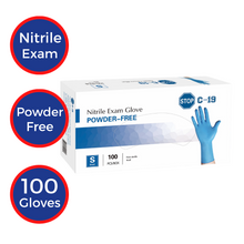Load image into Gallery viewer, Powder Free Nitrile Exam Gloves (100 pcs)